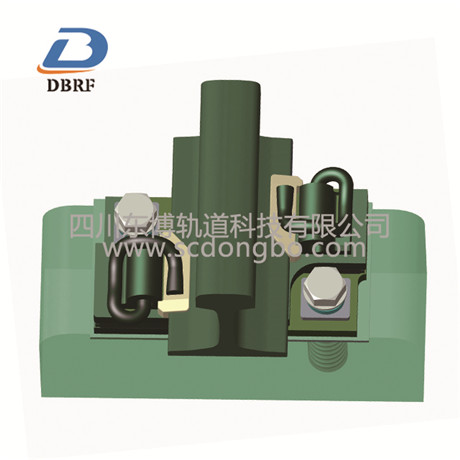 Double layer nonlinear damping fastener 1
