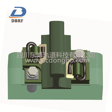 Double layer nonlinear damping fastener 2